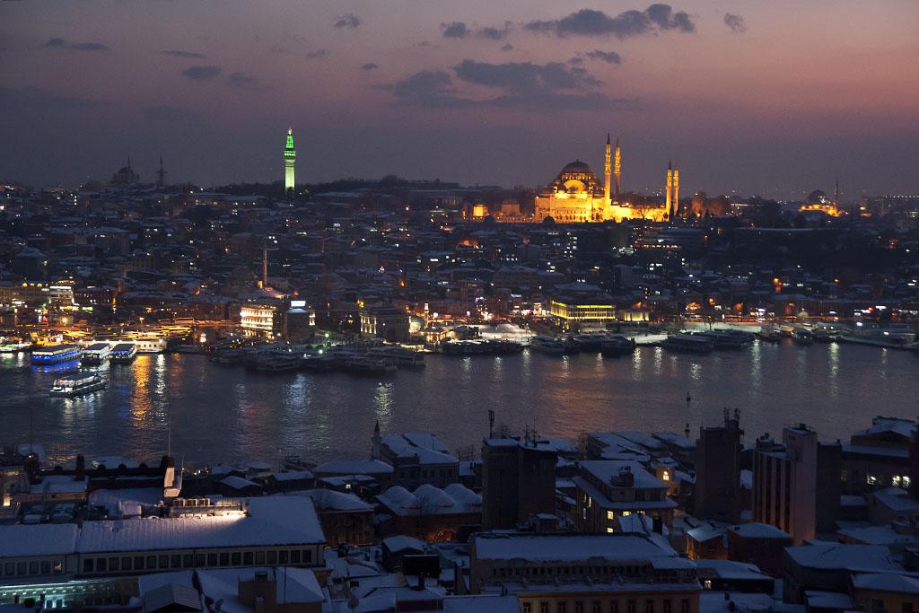 galata dan istanbul gece